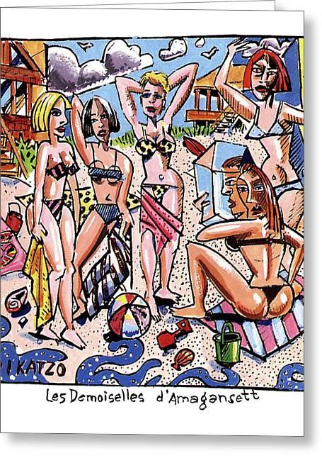 Les Demoiselles D'amagansett Greeting Card by Tom Hachtman