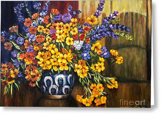 Les Fleurs By Alison Tave Greeting Card