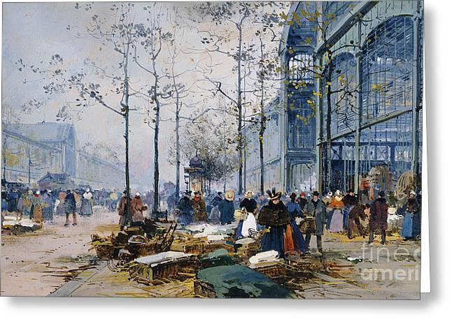 Les Halles Paris Greeting Card by Jacques Lieven