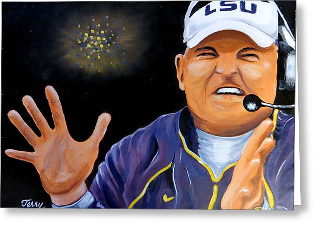 Les Miles Clapping Greeting Card by Terry J Marks Sr