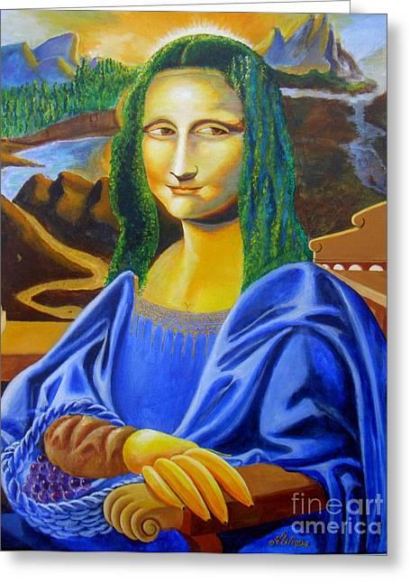 Les Mysteres Jocondais Au Code De Vinci   L E P I H Greeting Card