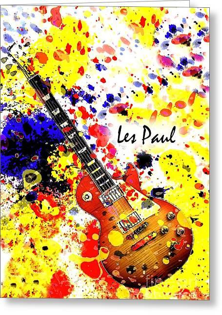 Les Paul Retro Greeting Card