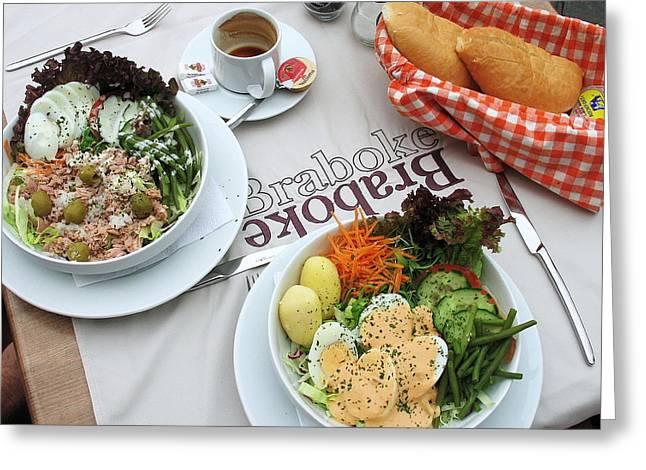 Les Salades Belgiques Greeting Card