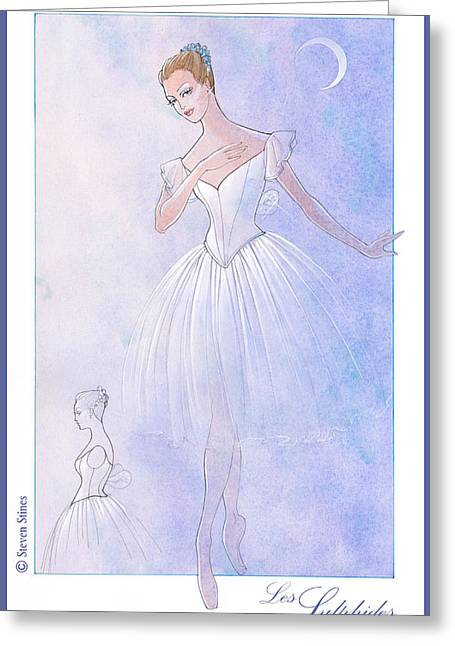 Les Sylphides Tutu Greeting Card