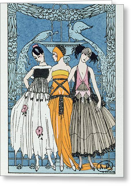 Les Trois Graces Greeting Card by Georges Barbier