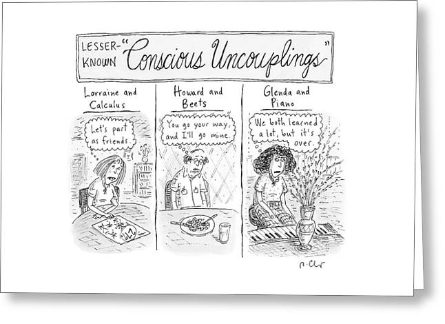 Lesser-known 'conscious Uncouplings Three Panels Greeting Card