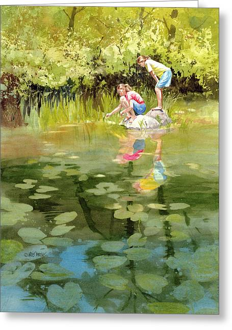 Lessons Of The Lake Greeting Card by Kris Parins