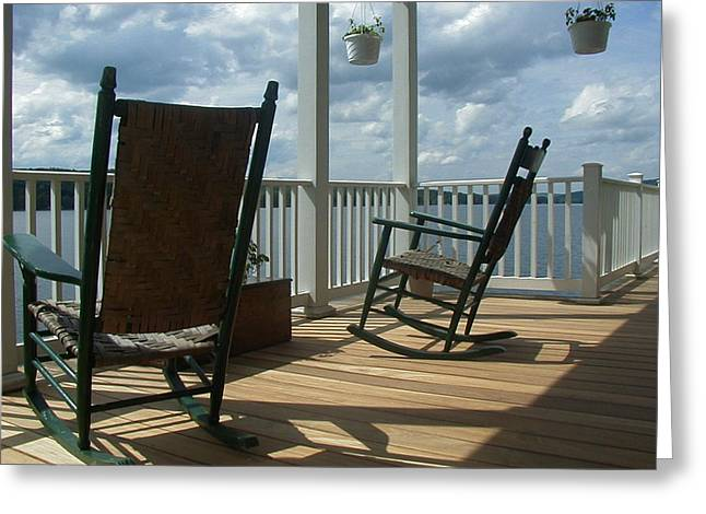 Let A Rocking Chair Get You Greeting Card by Jim Jones
