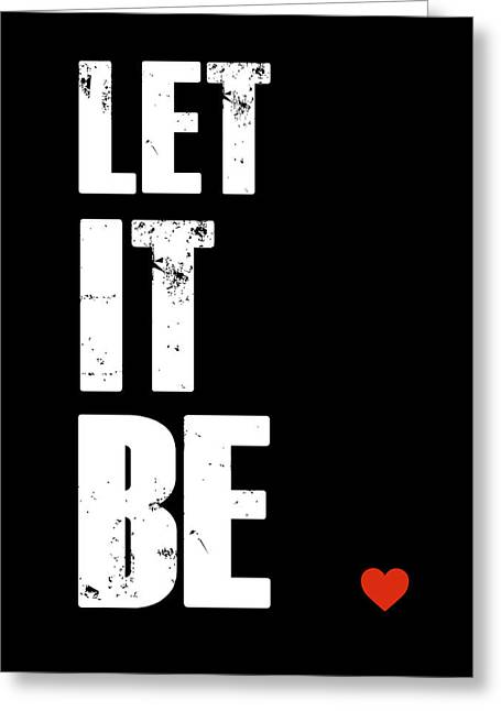 Let It Be Poster Greeting Card