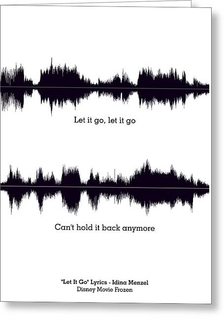 Let It Go - Music And Motivational  Typography Art Poster Greeting Card by Lab No 4 - The Quotography Department