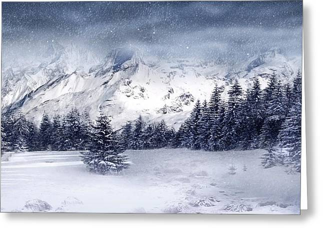 Let It Snow Greeting Card by Svetlana Sewell