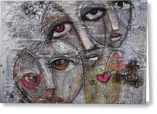 Let Love Consume You Greeting Card by Laurie Maves ART