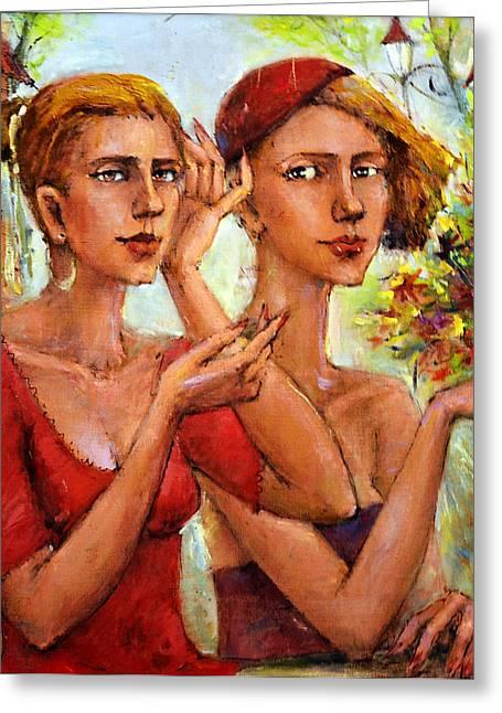 Let Love Flow Greeting Card by Oleg  Poberezhnyi