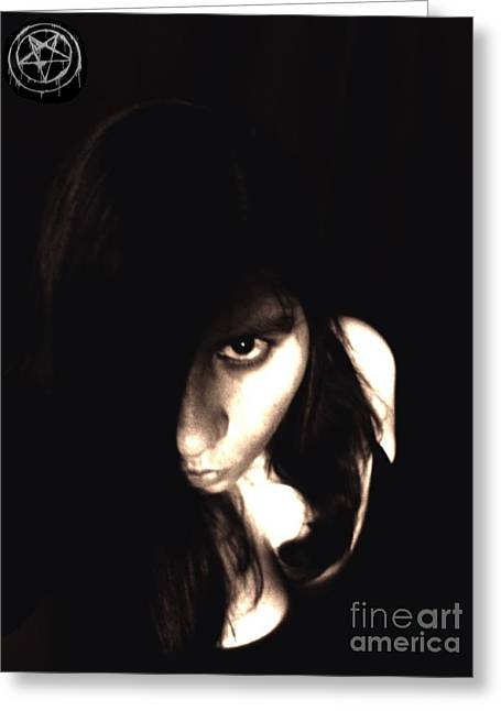 Greeting Card featuring the photograph Let The Darkness Take Me by Vicki Spindler