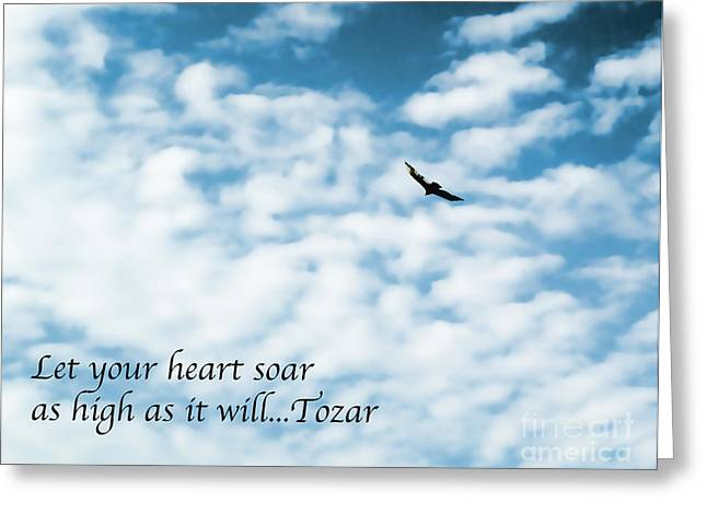 Let Your Heart Soar Greeting Card by Terry Weaver