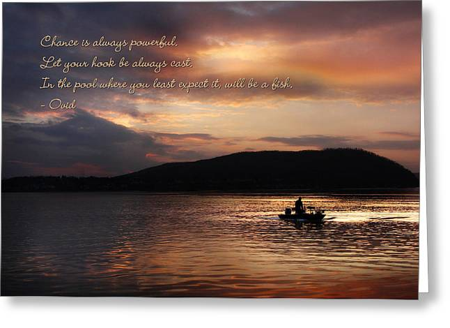 Let Your Hook Be Always Cast Greeting Card by Lori Deiter