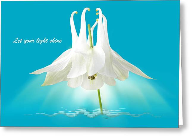 Let Your Light Shine Greeting Card by Gill Billington