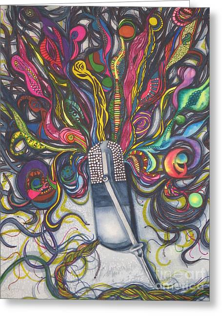 Greeting Card featuring the painting Let Your Music Flow In Harmony by Chrisann Ellis