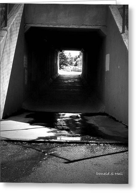 Lethbridge Underpass Greeting Card by Donald S Hall