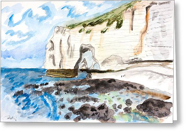 L'etretat Greeting Card by Pati Photography