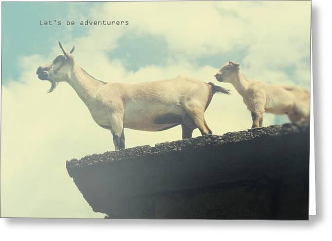 Let's Be Adventurers Greeting Card by Studio Yuki