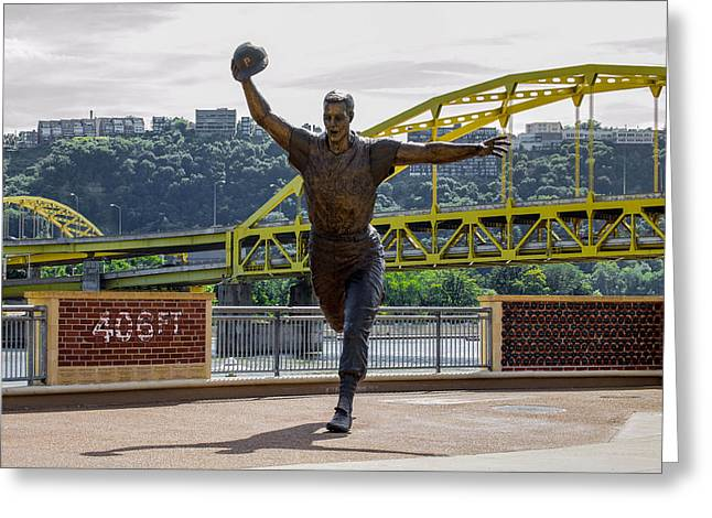 Lets Go Bucs Greeting Card by Anthony Thomas