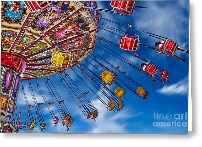 Lets Go For A Swing Greeting Card by Matt Suess