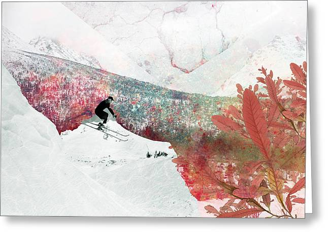 Let's Go Skiing Greeting Card by Pati Photography