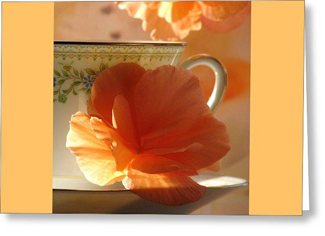 Let's Have Tea Greeting Card by Angela Davies
