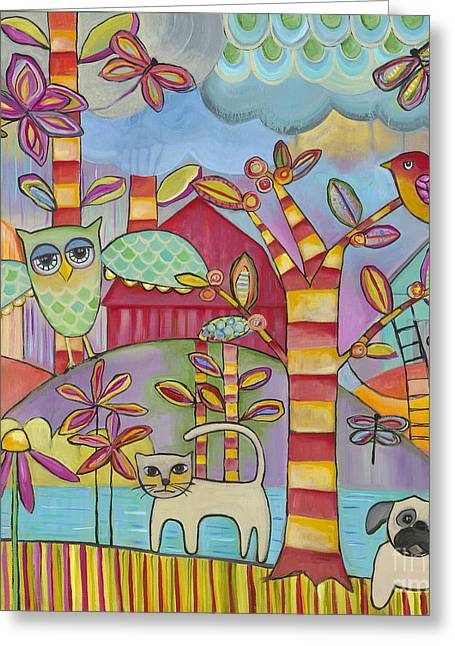 Let's Play Greeting Card by Carla Bank