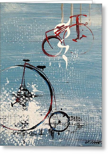 Let's Ride II Greeting Card by Vivian Mora