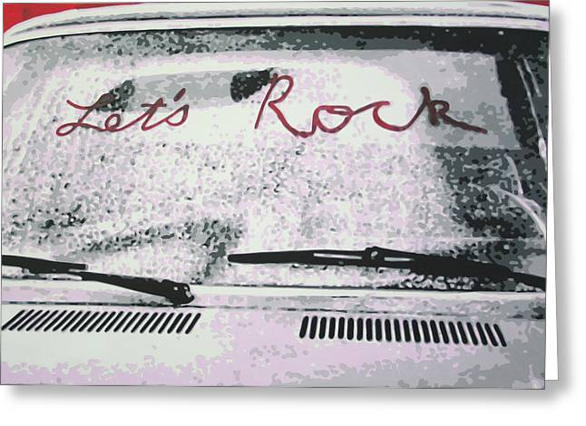 Lets Rock Greeting Card by Ludzska