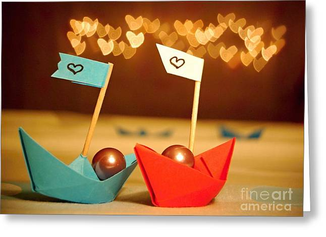 Lets Sail Through Life Together Greeting Card