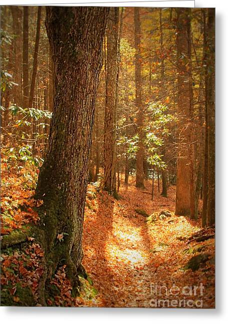 Let's Take A Walk Greeting Card by Geraldine DeBoer