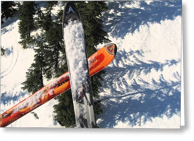 Lets Toast Our Skis Together Greeting Card by Kym Backland