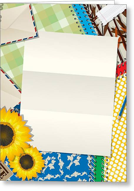 Letter Abstract Greeting Card by Richard Laschon