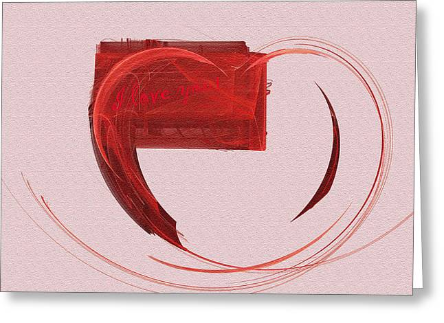 Letter From My Heart Fine Fractal Art Greeting Card by Georgeta  Blanaru