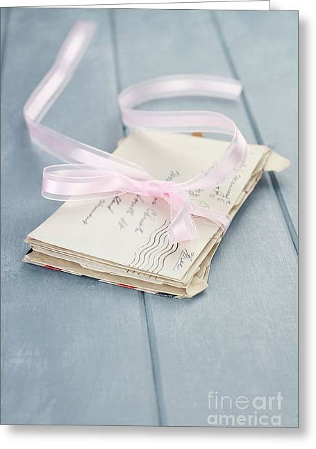 Letters From Him Greeting Card by Stephanie Frey