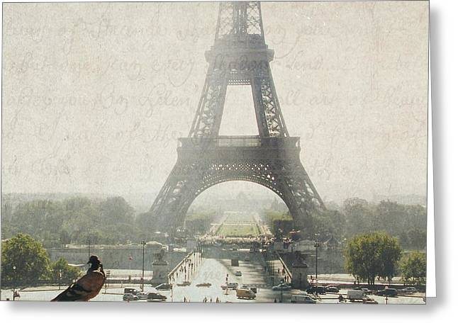 Letters From Trocadero - Paris Greeting Card