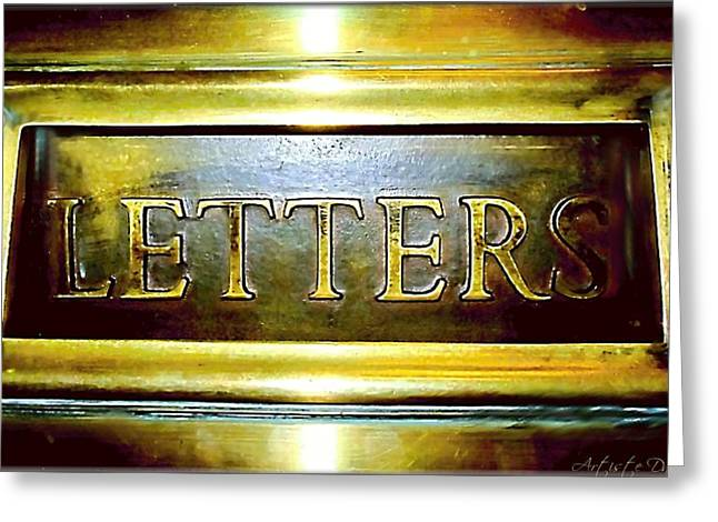 Letters Trough The Door Greeting Card by Danielle  Parent