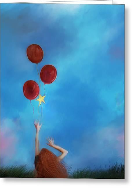 Letting Go Greeting Card by Hazel Billingsley