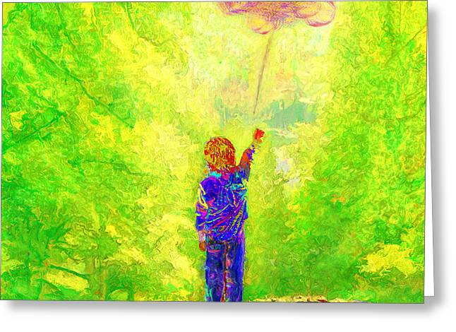 Letting Go... Looking Forward... Greeting Card by Lee Haxton
