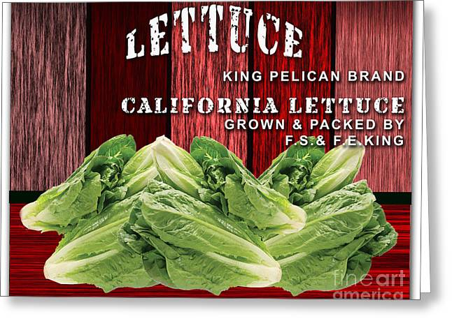 Lettuce Farming Greeting Card