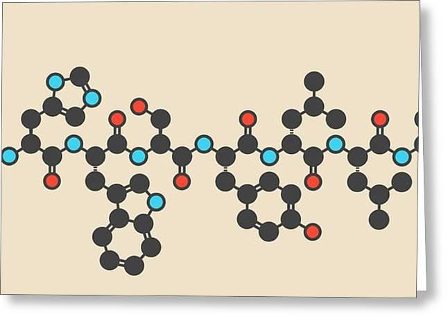 Leuprolide Gnrh Analog Drug Molecule Greeting Card