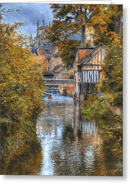L'eure A Louviers Greeting Card by Jean-Pierre Ducondi
