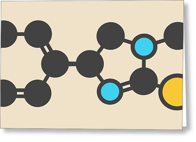 Levamisole Antihelmintic Drug Molecule Greeting Card