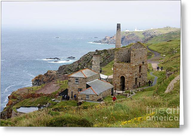 Levant Mine And Beam Engine Greeting Card by Terri Waters