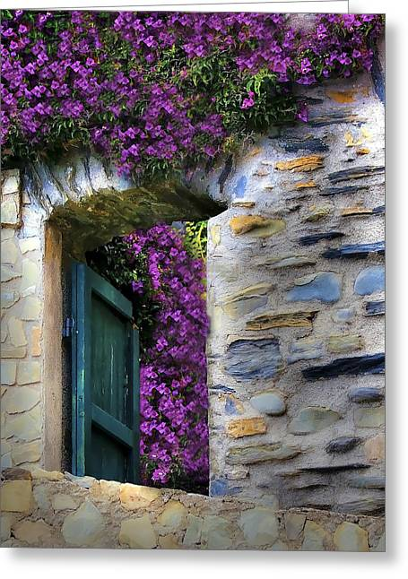 Levanto Bougainvilla Greeting Card