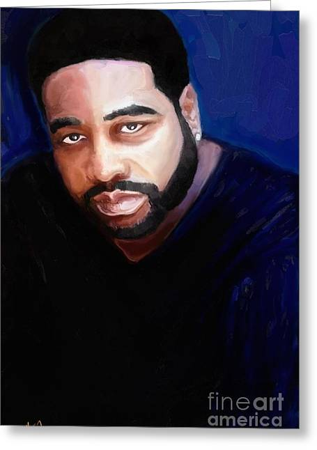 Greeting Card featuring the painting Levert by Vannetta Ferguson