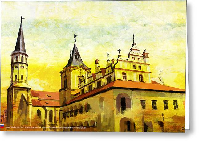 Levoca Spissky Hrad And The Associated Cultural Monuments Greeting Card by Catf